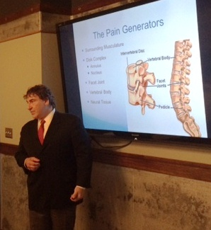 Dr Vincent Miele Lectures to Area Physicians on Complex